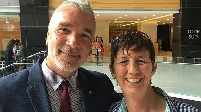 Simon Dery et Martine Roy