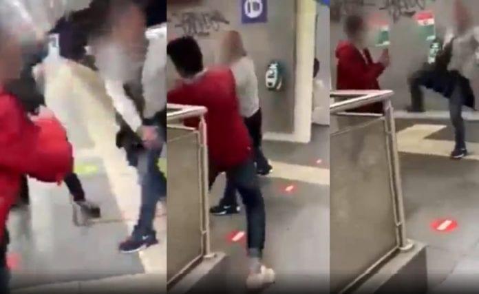 La vidéo de l'incident homophobe dans le métro de Rome