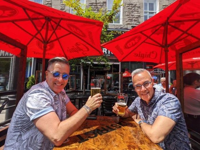 La réouverture des terrasses des bars était attendue avec impatience dans le Village! / Ville Montréal (SDC)